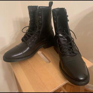 Zara men's black combat boots